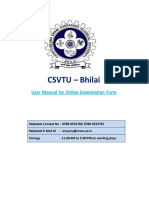 Online Examination Form User Manual for Students