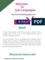 Al Hayat languages – International Language Centre