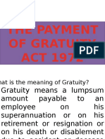 The Payment of Gratuity Act