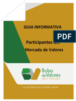 Guia Informativa Participantes Del Mercado de Valores