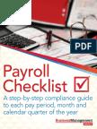 The Payroll Checklist