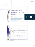 Applying OER Concepts in Course Design