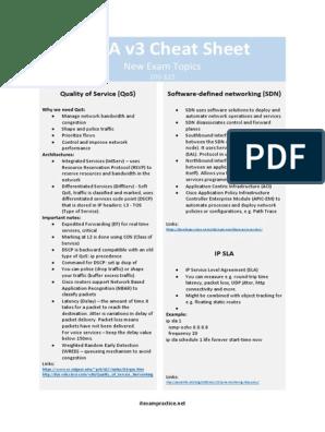 Ccna Cheat Sheet New Topics | Quality Of Service | Ip Address
