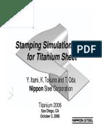 Nippon-Stamping of TI Sheet