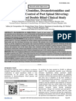 Comparison of Clonidine, Dexmedetomidine and Tramadol for Control of Post Spinal Shivering