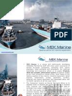 MEK Marine Equipment Spare parts