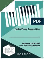 Junior Piano Competition Certificate