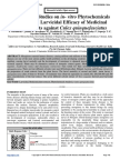 Comparative Studies on in- vitro Phytochemicals Analysis and Larvicidal Efficacy of Medicinal Plant Extracts against Culex quinquefasciatus