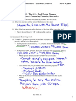RE611 - Comparing Financing Alternatives - Class Notes
