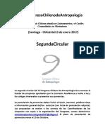 Segunda Circular IX Congreso Chileno de Antropología