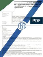 NBR 14545 - determinação do coeficiente de permeabilidade de solos.pdf