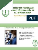 1. Elementos Generales Sobre Investigacin