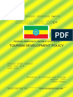 Tourism Development Policy of Ethiopia 2009