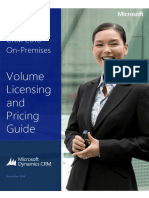 Microsoft Dynamics CRM 2016 on-Premises Licensing and Pricing Guide December 2015
