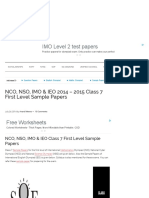NCO, NSO, IMO & IEO 2014 - 2015 Class 7 First Level Sample Papers