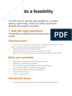 How to Do a Feasibility Study