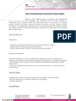 Business & Product Development Assistant (Internship)