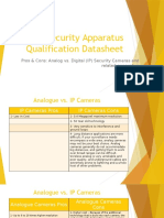 Security Apparatus Qualification Datasheet