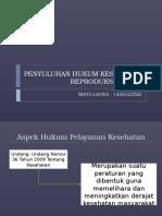 Persentasi Penyuluhan Hukum Kesehatan Reproduksi