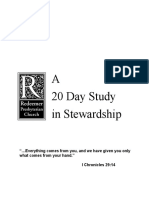 Tim Keller a Day Study in Stewardship