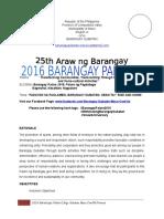 2016 Barangay Palaro Mechanics