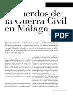Recuerdos de la guerra civil en Malaga