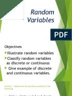 IIIa-1 Random Variable