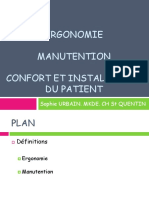 Ergonomie, Manutention Et Confort Du Malade