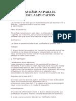 10 Normas Básicas Para El Trabajo de La Educación Física