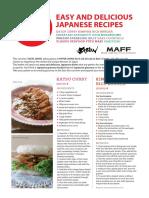 Japanese Recipe Leaflet