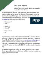 Mac Keyboard SHORTCATS