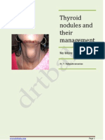 Thyroid Nodule and its management