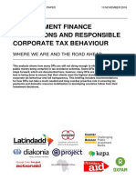 Development Finance Institutions and Corporate Responsible Tax Behaviour