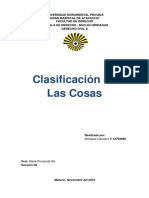 Derecho Civil II - Clasificacion de Las Cosas