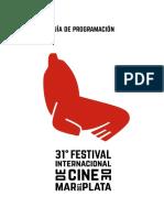 Programacion y Actividades 31º Festival Internacional de Cine de Mar del Plata