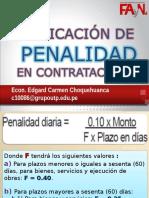 Aplicacion de Penalidad