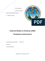 Golpe de Estado Honduras