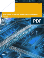 Whats New SAP HANA Platform Release Notes En