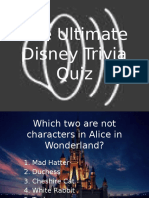 Disney Trivia Power Point