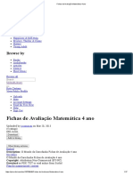 Fichas de Avaliação Matemática 4 Ano
