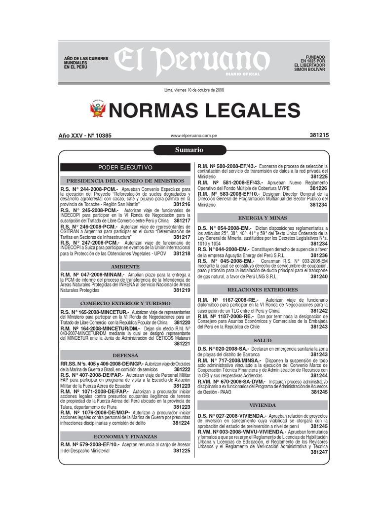 Reglamento de La Ley