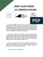 Informe Cajas Nidos Finca Las Viboras
