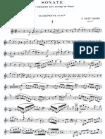 SAINT-SAENS, C. - Sonata for Clarinet & Piano, Op. 167 (Cl. + Pno).pdf