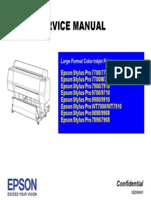 Epson Stylus Pro 9900 Service Manual | Magenta | Cyan