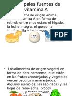 Diapos de Vitamina A