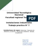 Tpnº7 -Instalaciones de Vapor