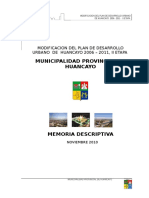 MEMORIA DESCRIPTIVA PDU 2006-2011, II MODIFICACION.doc