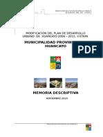 MEMORIA DESCRIPTIVA PDU 2006-2011, II MODIFICACION.doc