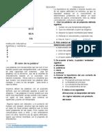 Evaluación de proceso COM - 2°
