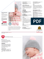 LW5178 Newborn Cozy Cap Free Knitting Pattern